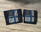Custom shirt - Blue lives matter badge t-shirt