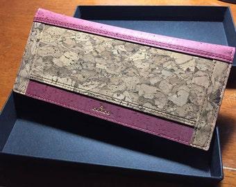 Women Long Cork Wallet