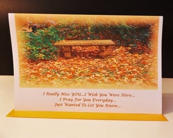 I Really Miss You Handmade Greeting Card