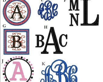 Monogram/Font Options- Choose Here or Request Custom DO NOT ORDER-Examples Only
