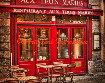 French pastries, French shopping, Paris shops, Paris shopping, Paris photo art,  Paris Fine Art Photo, red wall decor, Paris architecture