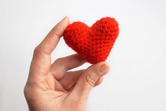 Amigurumi Keychain Loop : Red heart keychain key ring crochet amigurumi