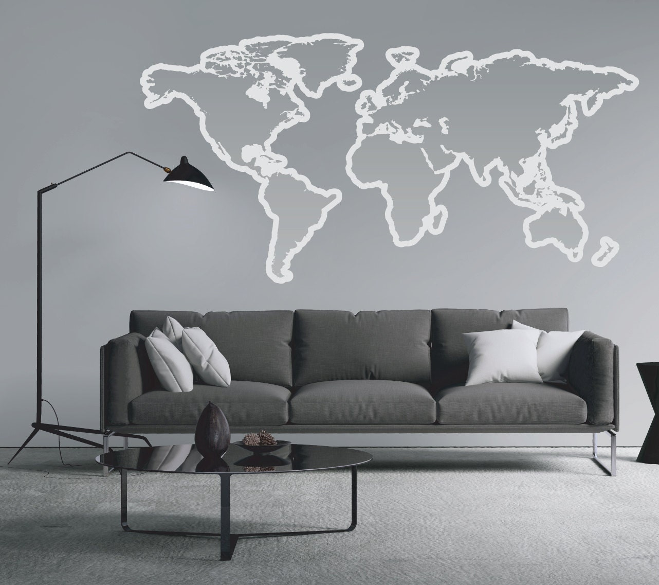 World map outlines wall decal vinyl graphic wall sticker world map outlines wall decal vinyl graphic wall sticker gumiabroncs Image collections