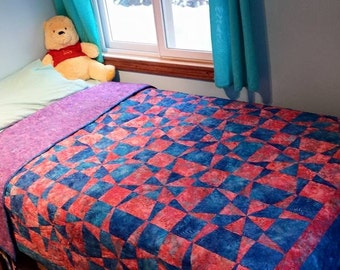 Homemade twin quilt