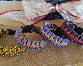 Paracord Survival Cobra Stitch Bracelet
