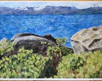 Manzanita and Lake Tahoe Print