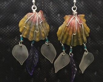 Dreamcatcher sunrise chip earrings