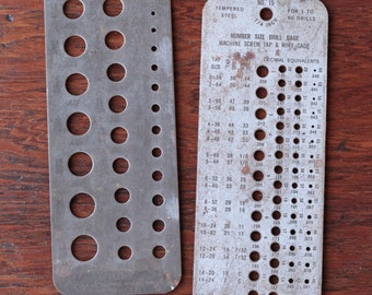 Two vintage drill gages