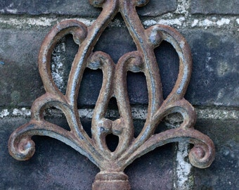 Vintage cast iron garden marker