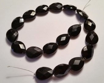 Black Oynx Faceted Teardrop