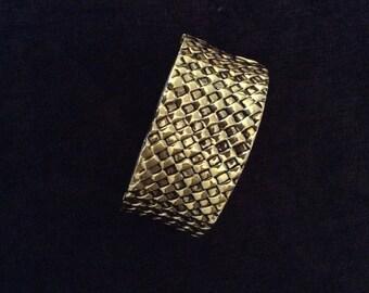 Vintage gold hinged cuff bracelet
