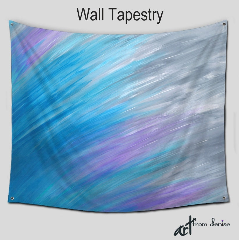 abstract tapestry wall hanging blue violet gray home decor. Black Bedroom Furniture Sets. Home Design Ideas