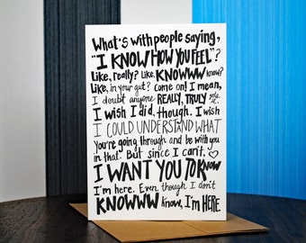 SALE! Knowww Know Empathy Card, 5 Pack