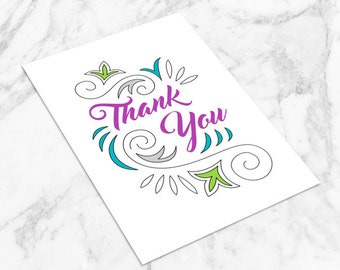 Printable card - Thank You!