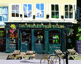 People's Park Tavern, Victoria Park, Hackney, East London Art Print