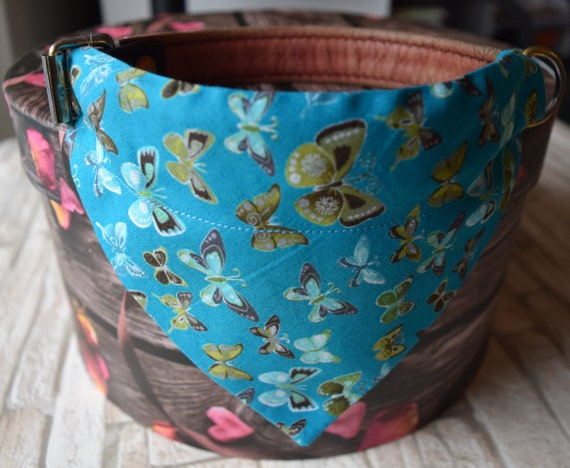 """Bandana """"Butterflies on Blue"""" Bandanas for small or medium sized dogs cats"""