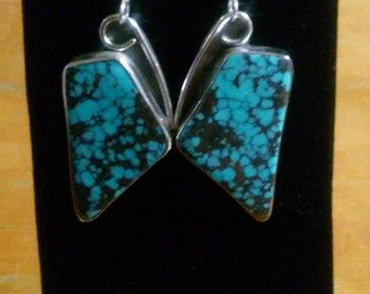 Sterling silver and turquoise Butterfly Earrings