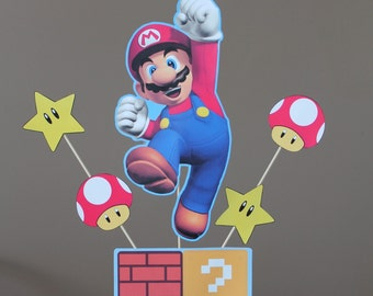 Super Mario Centerpieces-Instant download- Printable- Digital Files- Mario Party Decorations