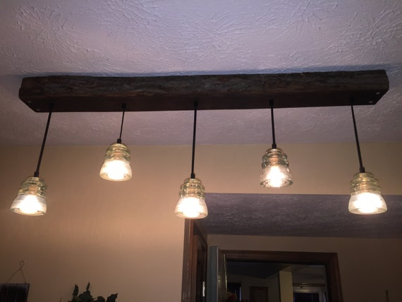 5 vintage glass insulator pendant lights by for Antique insulator pendant lights