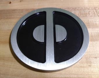 VW Beetle Deadpool emblem
