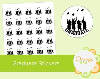 Graduate Stickers - Graduation Stickers - Class of 2016 Stickers - Cap Tassel Stickers - Planner Stickers