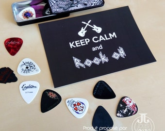 Map postal Keep calm rock and it