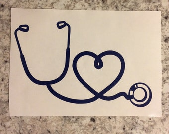 Heart Stethoscope decal | Stethoscope decal