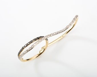Diamond Two Finger Ring