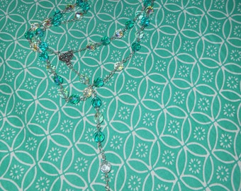 Handmade rosary in glass beads
