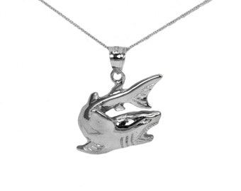 Sterling Silver Shark Necklace