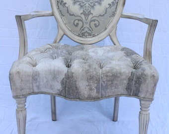 Beautiful Shield Back Accent Chair