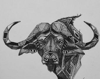Buffalo African Animal Print