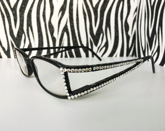 Reading Glasses Made with Swarovski Crystals +1.00 +1.25  +1.50 +2.00