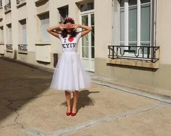 White tulle skirt Chtt