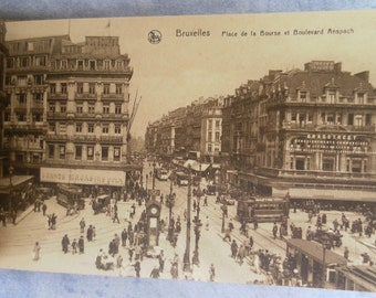 Brussels Belgium 1920 Booklet of 17 detachable postcards editor Nels