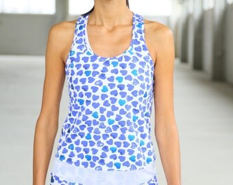 SportyTank Top with hearts print (0077) AA04450