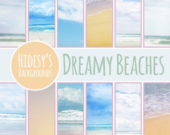 Dreamy Beach Digital Paper // Beach Photographic Backgrounds // Beaches Themed Photographic Digital Downloads // Vacation or Holiday Paper