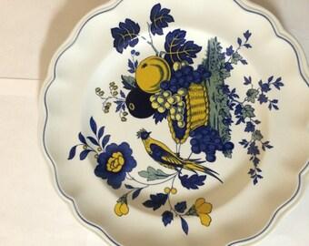 Spode Blue Bird with Yellow Dinner Plate