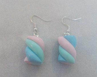 Marshmallows in fimo earrings