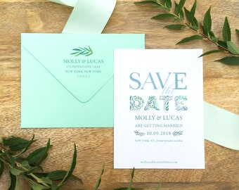 Garden Watercolor Save the Date Cards