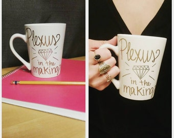 Plexus Diamond in the Making - Hand-painted Custom Mug