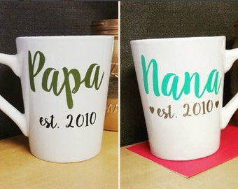 Nana & Papa - Set of 2 Custom Mugs