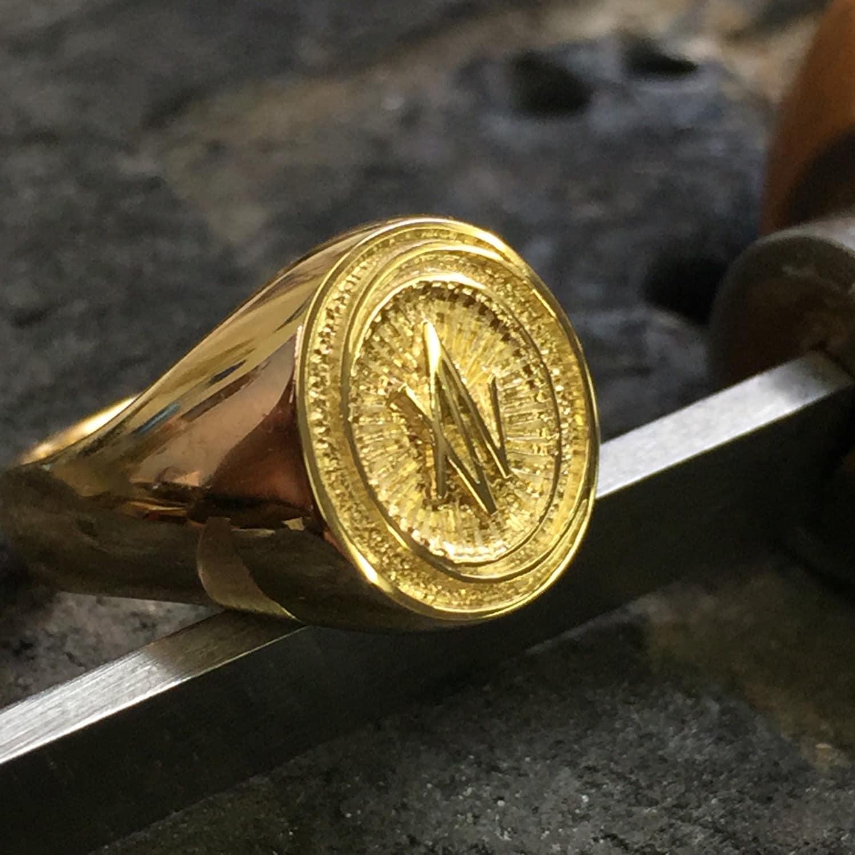 Beautiful Custom Engraving For Signet Rings Deep Relief