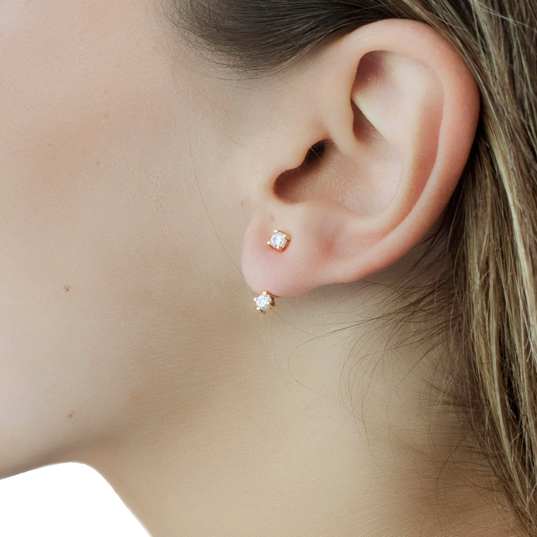 Sale :ear Jacket Front Back Earrings  Gold Earrings  Ear Jacket Earrings