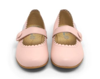 Pink Mary Jane shoes, Blush girl shoes / Toddler shoes, Pink shoes, Leather Infant Shoes,