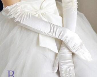 Wedding gloves, white bridal gloves, lace gloves, party gloves