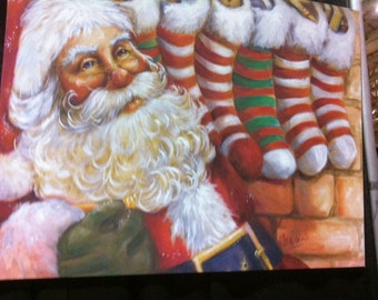 Personalized! Santa With Stockings
