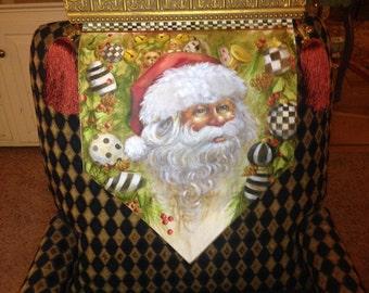 Personalized!  Wedge Decoration Santa