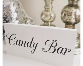 Wedding candy bar, candy buffett plaque sign