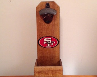 San Fransisco 49ers Wall Mounted Bottle Opener